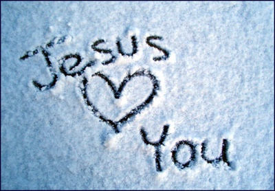 "Says Jesus, ""I Love You More."""